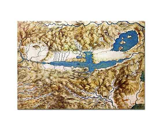 Leonardo Da Vinci Toskana Chiana Vadisi Haritası