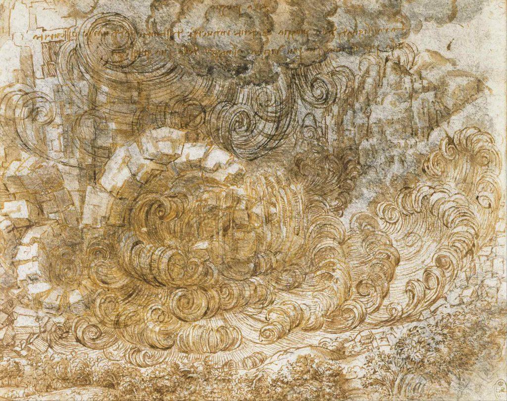 Leonardo Da Vinci Tufan Eskiz