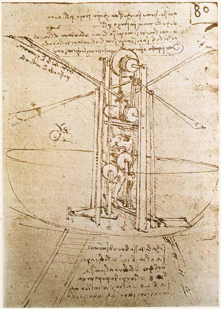 Leonardo Da Vinci Uçan Makina Çizimi