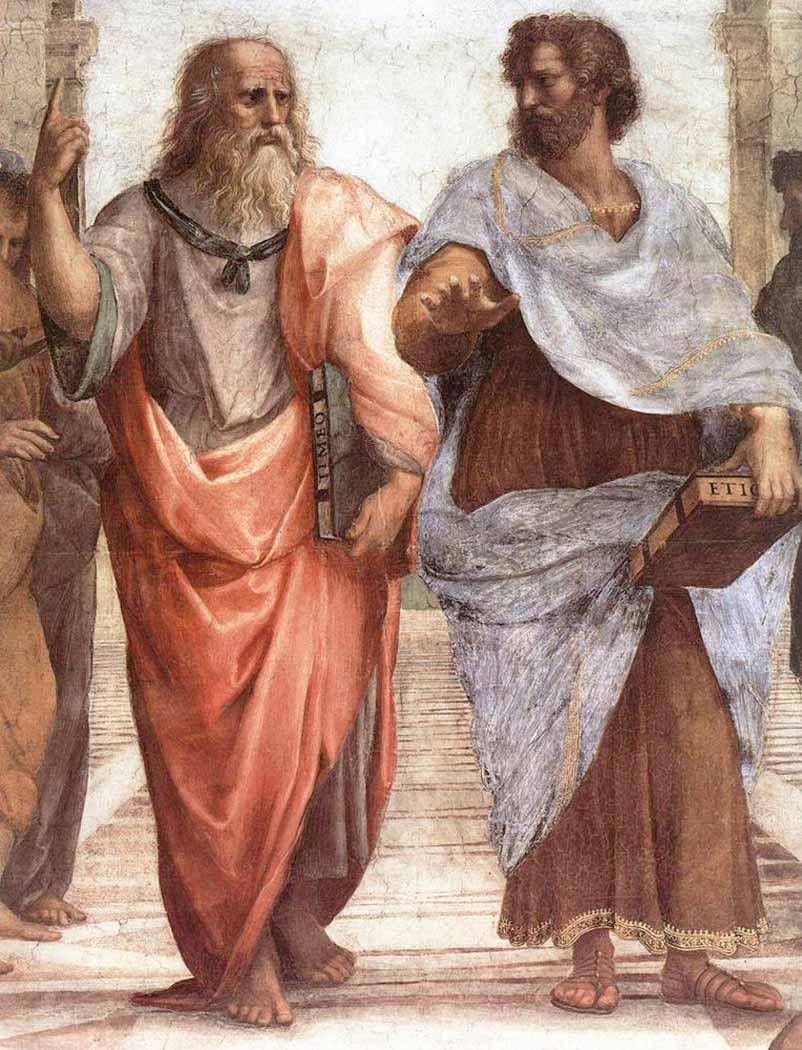 Sanzio de Urbino Raphael Atina Okulu Detay