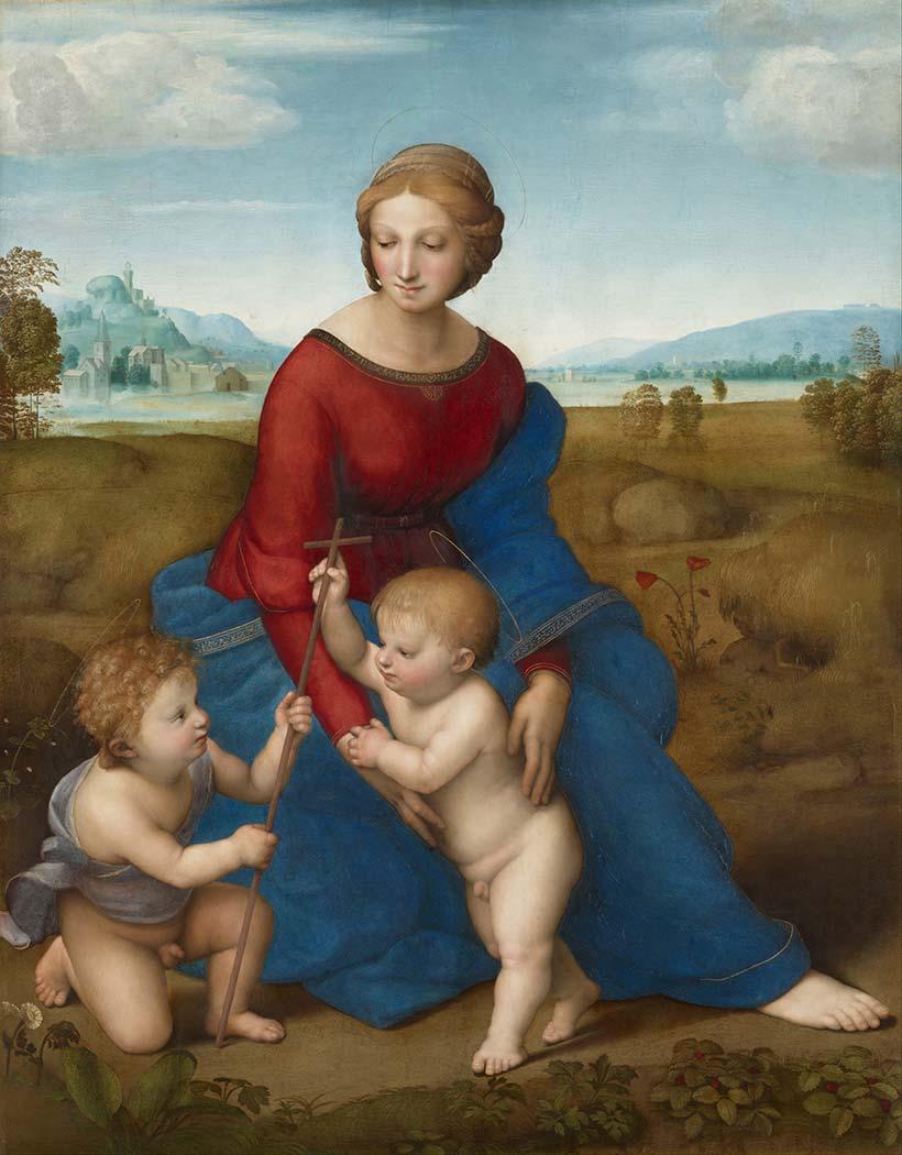 Sanzio de Urbino Raphael Taraçada Madonna
