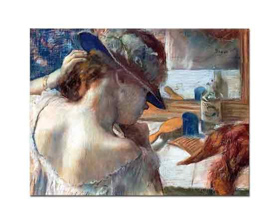Edgar Degas Ayna önünde