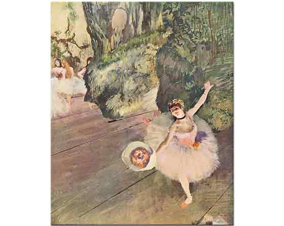 Edgar Degas çiçeğiyle Selam Veren Balerin