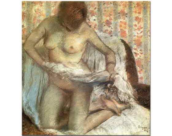 Edgar Degas Dizüstünde Kadın Banyo Sonrası