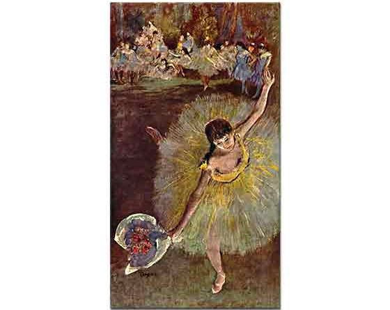 Edgar Degas Elinde Çiçeği ile Balerin