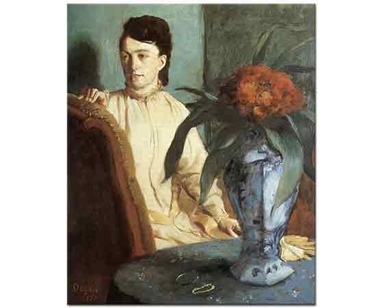 Edgar Degas Estelle Musson Portresi