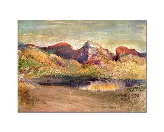 Edgar Degas Göl ve Dağlar
