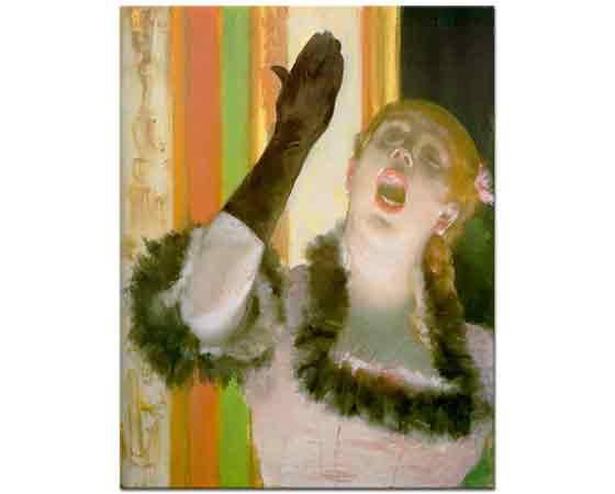 Edgar Degas Kafede Konser Veren Sanatçı