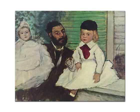 Edgar Degas Kont Lepic ve çocuklarının Portreleri