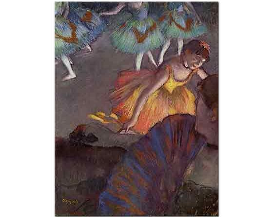 Edgar Degas Locadan Balerine Bakış
