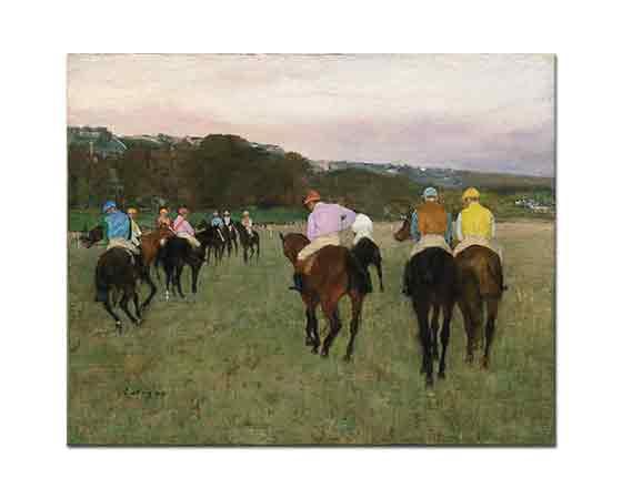 Edgar Degas Longchamp'ta Yarışçılar
