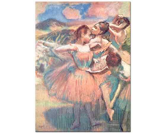 Edgar Degas Manzarada Balerinler