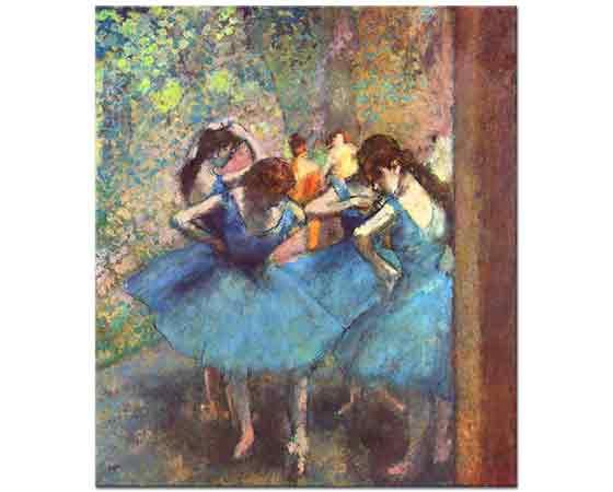 Edgar Degas Mavi Elbiseli Balerinler