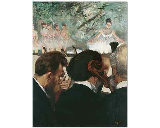 Edgar Degas Orkestra Müzisyenleri