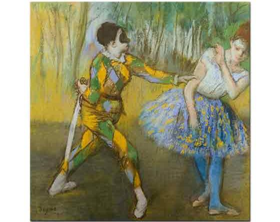 Edgar Degas Palyaço ve Columbine