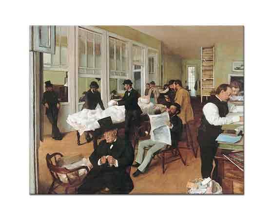Edgar Degas Pamuk Toptancıları Ofisi New Orleans