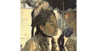 Edgar Degas Parktaki Genç Kadın