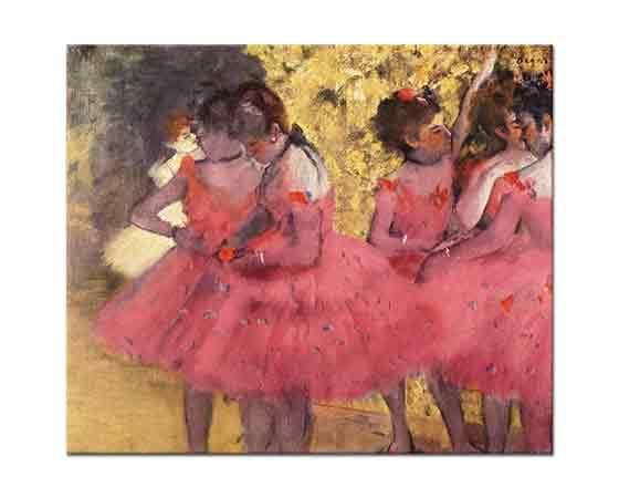 Edgar Degas Pembeler içinde Balerinler