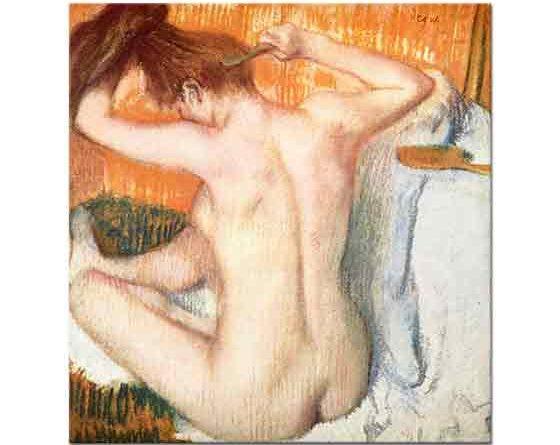 Edgar Degas Saçlarına Bakım Yapan Kadın