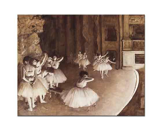 Edgar Degas Sahnede Genel Prova