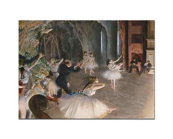 Edgar Degas Sahnede Prova