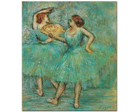 Edgar Degas Sahneye çıkış İki Balerin