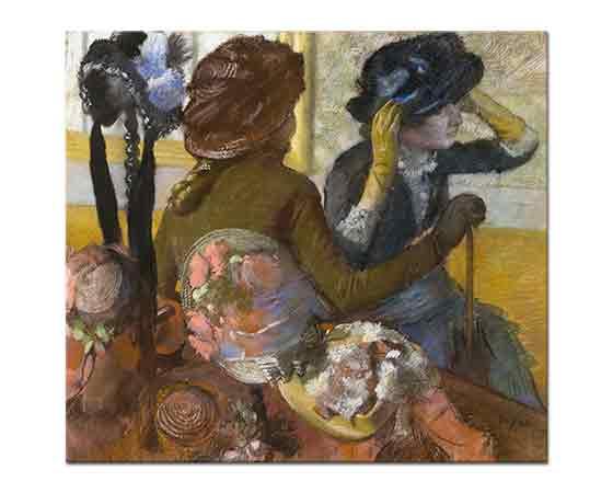 Edgar Degas Şapkacıda Seçim