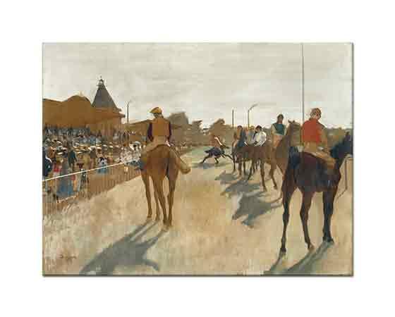 Edgar Degas Tribün önünde Yarış Atları