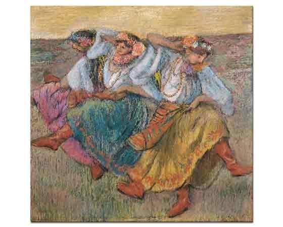 Edgar Degas üç Rus Dansçısı