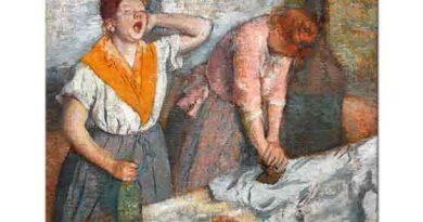 Edgar Degas ütü Yapan Kadın