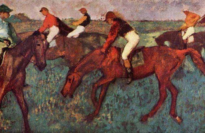 Edgar Degas Startta tablosu