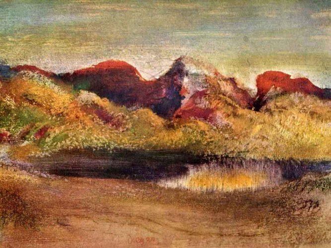 Edgar Degas Deniz ve Dağlar tablosu