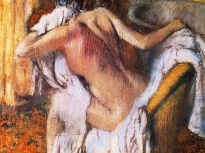 Edgar Degas Banyo Sonrası Kurulanan Kadın