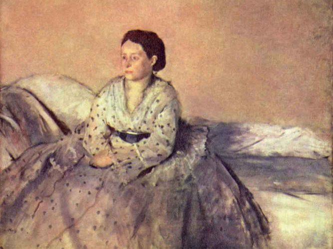 Edgar Degas Madame Rene de Gasın Portresi