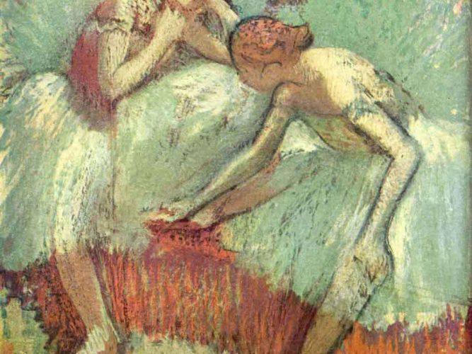 Edgar Degas Yeşil Dansçılar tablosu