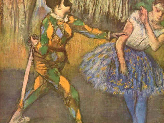 Edgar Degas Palyaço ve Colombine