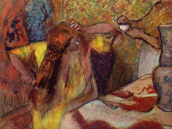 Edgar Degas Saç Bakımı tablosu