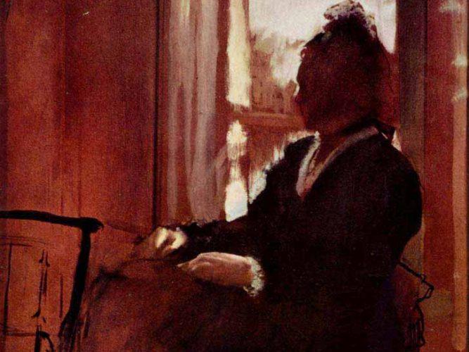 Edgar Degas Pencereden Bakan Kadın