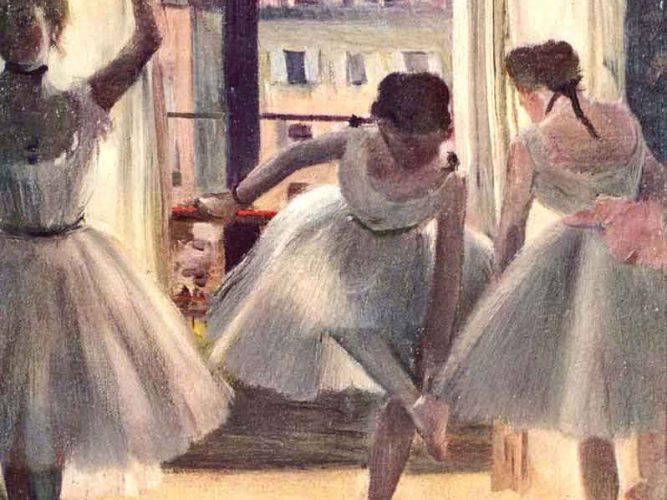 Edgar Degas Prova Salonunda üç Balerin