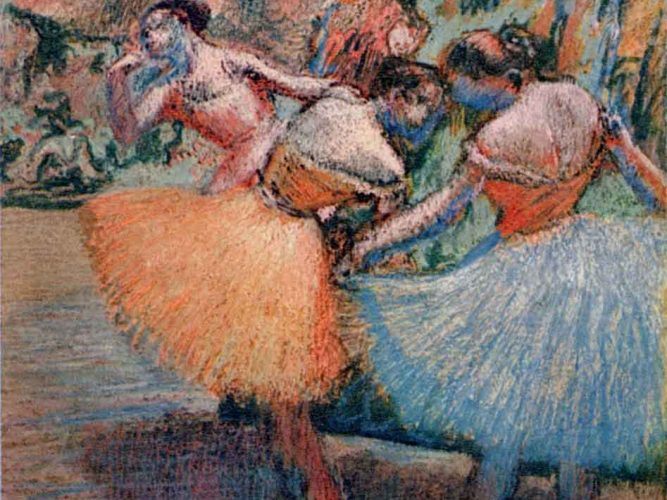 Edgar Degas Balerinler tablosu