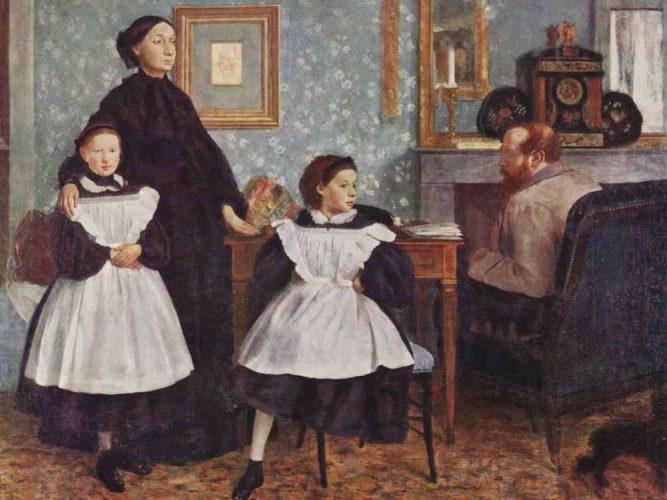Edgar Degas Bellelli Ailesi tablosu