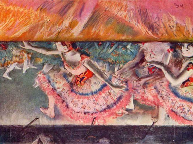 Edgar Degas Perde Düşerken tablosu