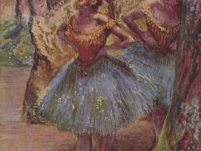 Edgar Degas Sahneye çıkış tablosu