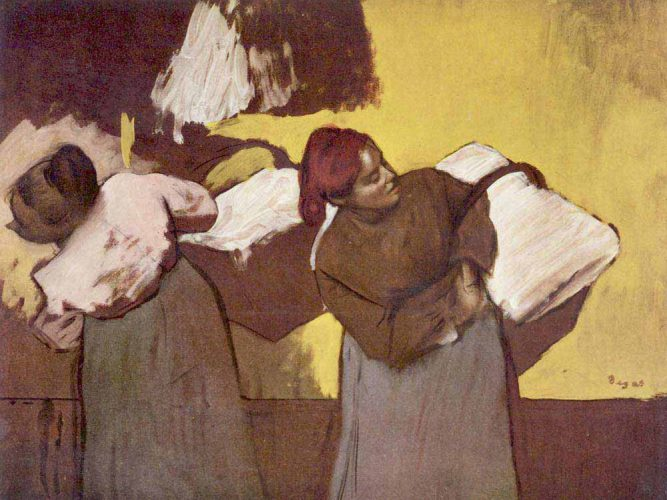 Edgar Degas iki Çamaşırcı Kadın