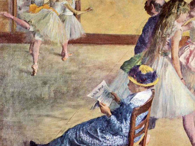 Edgar Degas Bale Sınıfında tablosu