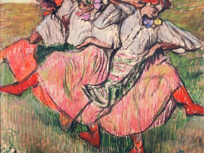 Edgar Degas üç Rus Dansçısı tablosu