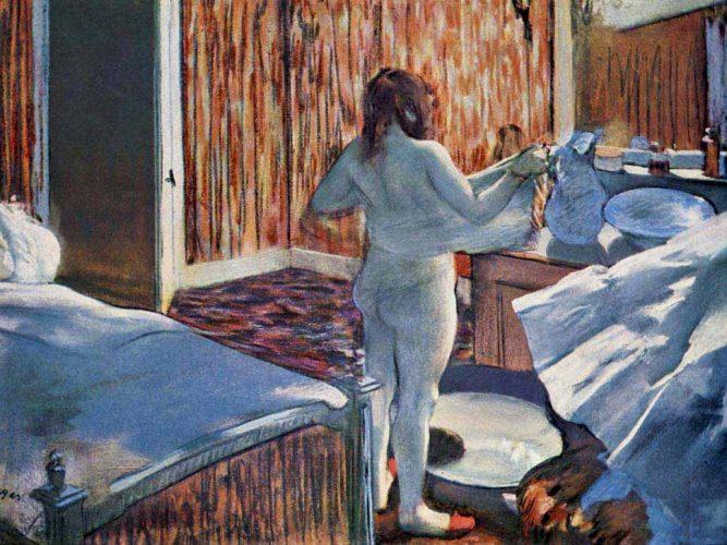 Edgar Degas Yıkanan Kadın tablosu