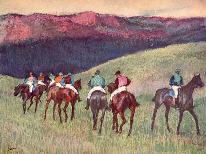 Edgar Degas Yarış Atları tablosu