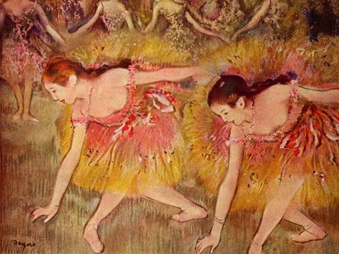 Edgar Degas iki Balerin tablosu