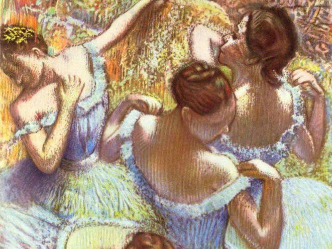 Edgar Degas Maviler içinde Balerinler